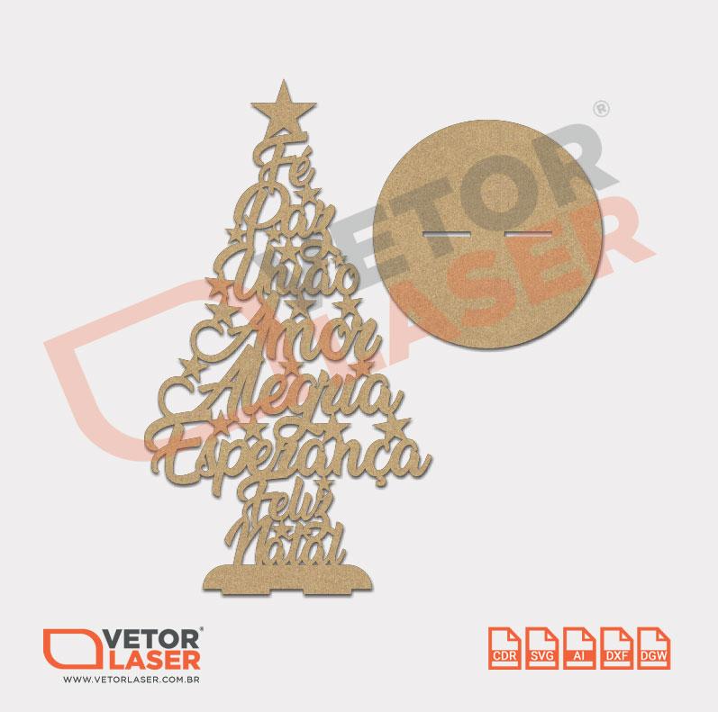 Vetor árvore De Natal Para Corte A Laser Em Mdf 0005