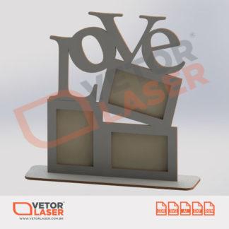 Vetor Porta Retrato para Corte em Máquina Laser em MDF