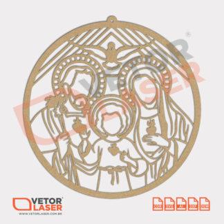 Vetor Mandala Sagrada Família para Corte Laser em MDF