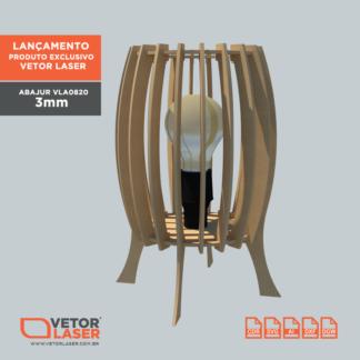 Vetor Lumiária Abajur para Corte com máquina Laser MDF 3mm VLA0820