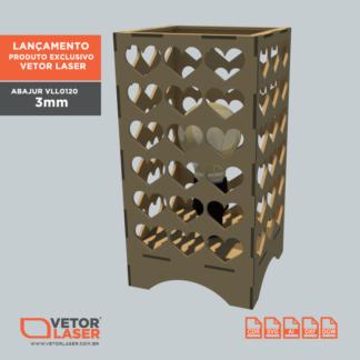 Vetor Luminaria Abajur Lanterna Corações VLL0120 - 001