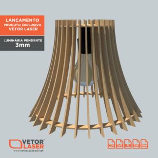 Vetor Luminária Pendente Jawa para Corte em máquina Laser em MDF 3mm VLP1020
