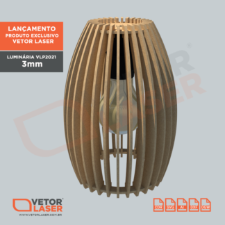 Vetor Luminária 3mm