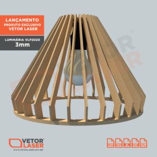 Vetor Luminária Pendente Corte Laser MDF 3mm