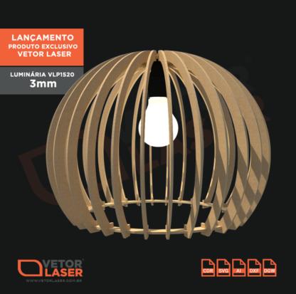 Vetor Luminária Corte Laser