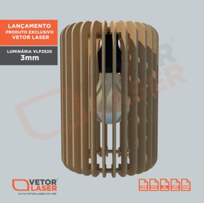 Projeto Luminária corte laser