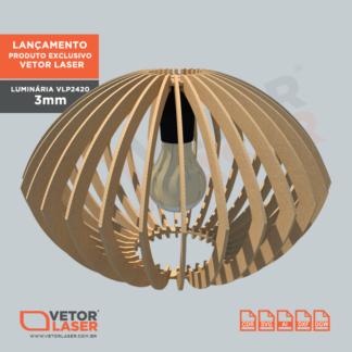 Vetor Projeto Luminária Corte Laser