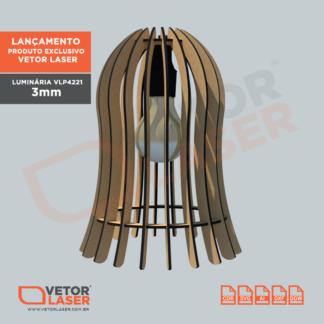 Projeto de Luminária para corte laser