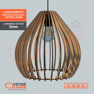 Projeto Vetor Luminária Corte Laser