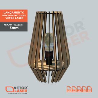 Projeto Luminária Abajur Corte Laser MDF