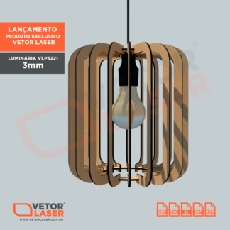 Projeto de Luminária par corte Laser